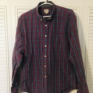 J. Crew Blue & Red Plaid Button Down Shirt
